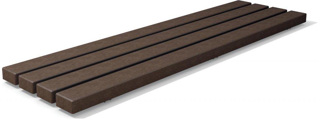 Kunststoff Bankbohlenelement Premium Stärke 6,7 cm