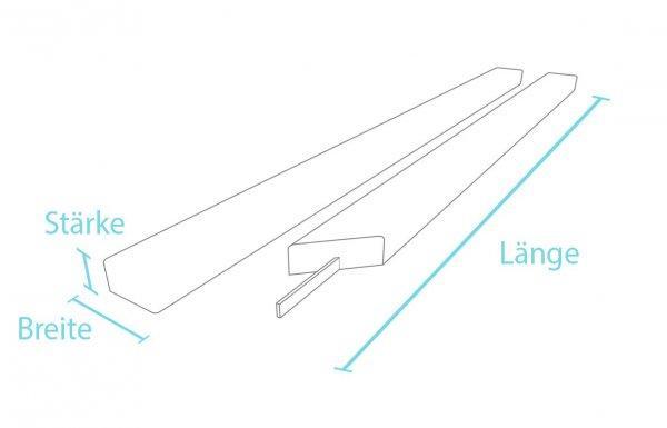 Kunststoff-Kunststoff Bankbohlen Klassik Stärke 4 cm