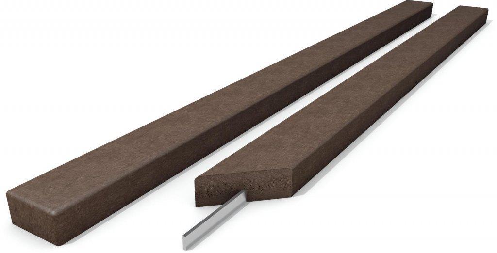 Kunststoff Bankbohlen Klassik Stärke 4 cm