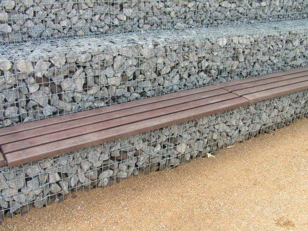 Kunststoff-Kunststoff Bankbohlen Premium Stärke 4,7 cm