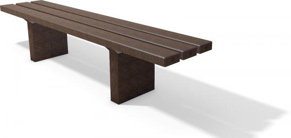 Kunststoffbank Eifel ohne Lehne