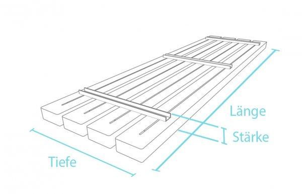Kunststoff-Kunststoff Bankbohlenelement Premium Stärke 6,7 cm