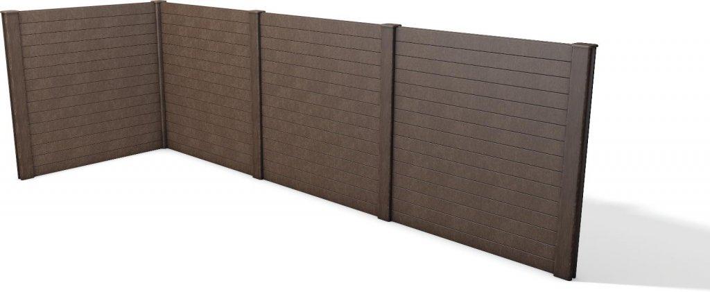 kunststoff sichtschutzwand aus einzelteilen armierte. Black Bedroom Furniture Sets. Home Design Ideas