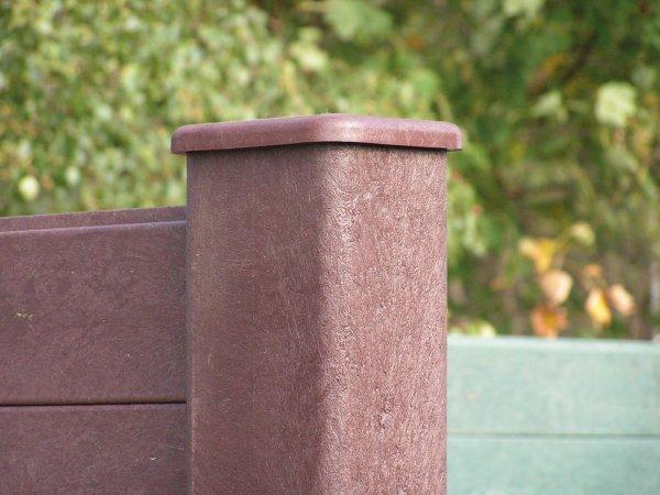 Kunststoff-Kunststoff Sichtschutzwand (aus Einzelteilen)