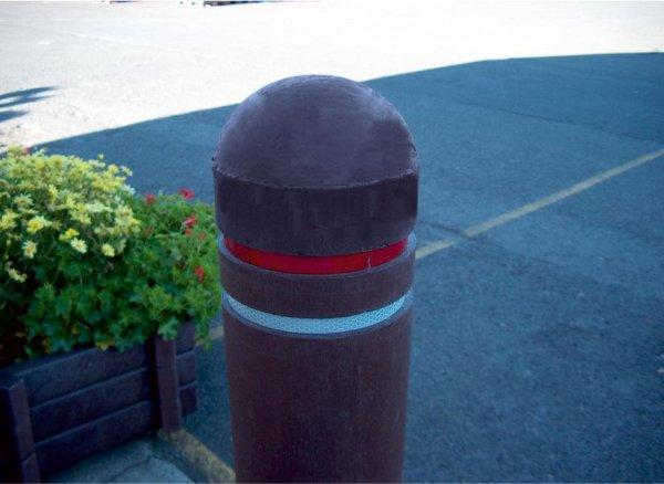 Kunststoff-Kunststoffpoller mit Halbkugelkopf