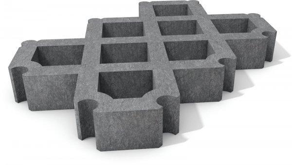 Kunststoff Rasengitterstein