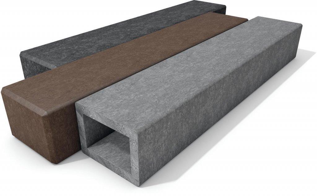 kunststoff rechteckpalisaden mit fase die kunststofpalisaden eigenen recyclingkunststoff. Black Bedroom Furniture Sets. Home Design Ideas