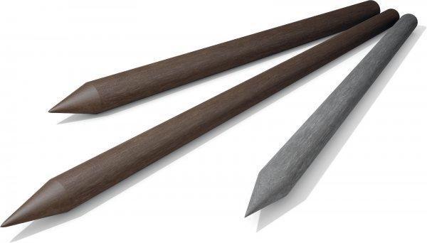 Kunststoffpfähle Koppelpfosten / Zaunpfosten mit Spitze
