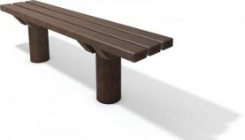 Kunststoff Waldbank Taunus ohne Lehne