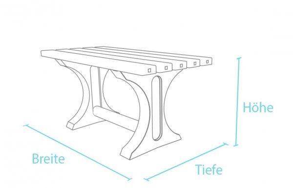 Kunststoff-Kunststofftisch Tivoli