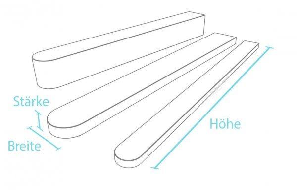 Kunststoff-Kunststoff Zaunpfosten mit Rundkopf